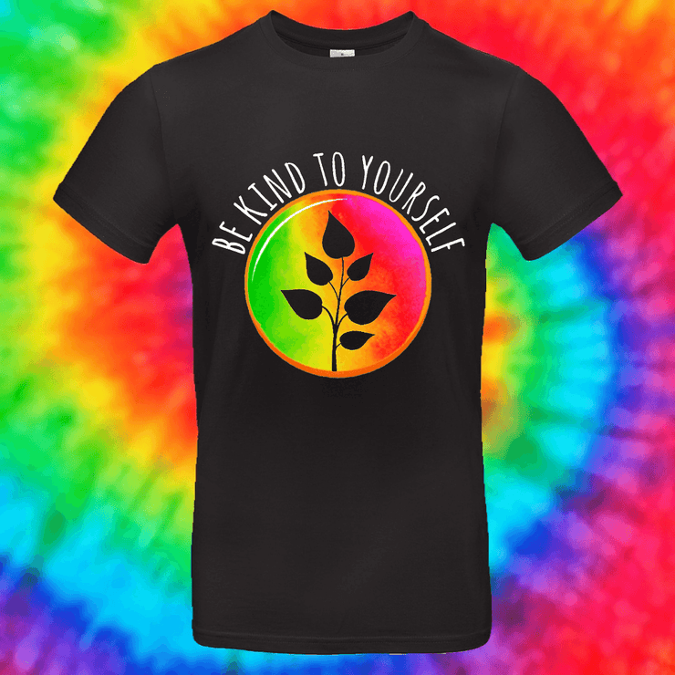 Be Kind To Yourself Tee T-shirt Grow Through Clothing Black Front Small Unisex