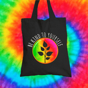 Be Kind To Yourself Tote Bag Tote bag Grow Through Clothing Black