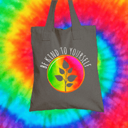 Be Kind To Yourself Tote Bag Tote bag Grow Through Clothing Grey