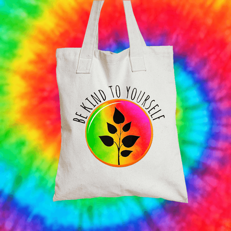 Be Kind To Yourself Tote Bag Tote bag Grow Through Clothing White
