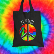 Be Kind Tote Bag Tote bag Grow Through Clothing Black