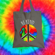 Be Kind Tote Bag Tote bag Grow Through Clothing Grey