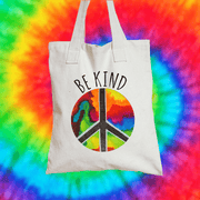 Be Kind Tote Bag Tote bag Grow Through Clothing White