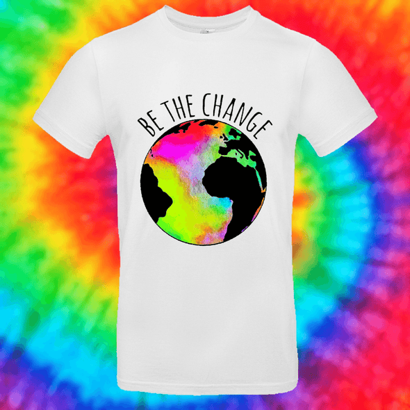 Be The Change Tee T-shirt Grow Through Clothing White Front Small Unisex