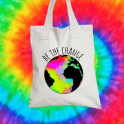 Be The Change Tote Bag Tote bag Grow Through Clothing White