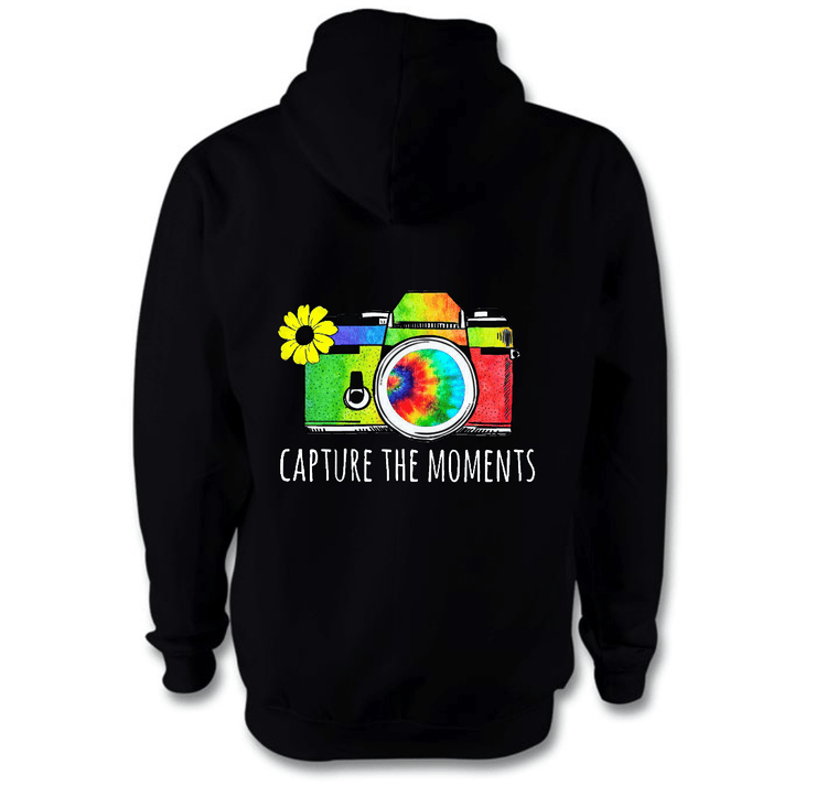 Capture The Moments Hoodie Hoodie Grow Through Clothing Black Back Extra Small Unisex