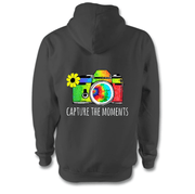 Capture The Moments Hoodie Hoodie Grow Through Clothing Grey Back Extra Small Unisex