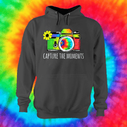 Capture The Moments Hoodie Hoodie Grow Through Clothing Grey Front Extra Small Unisex