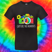 Capture The Moments Tee T-shirt Grow Through Clothing Black Front Small Unisex