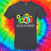 Capture The Moments Tee T-shirt Grow Through Clothing Grey Front Small Unisex
