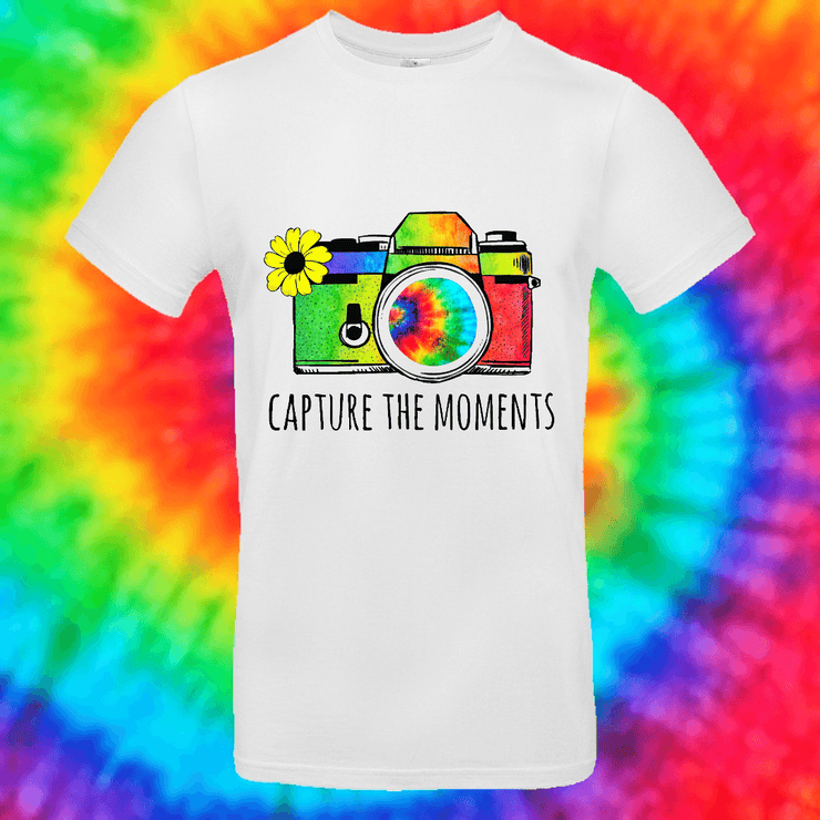 Capture The Moments Tee T-shirt Grow Through Clothing White Front Small Unisex