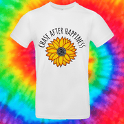 Chase After Happiness Tee T-shirt Grow Through Clothing White Front Small Unisex