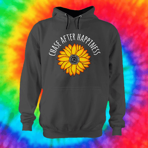 Chase Happiness Hoodie Hoodie Grow Through Clothing Grey Front Small Unisex