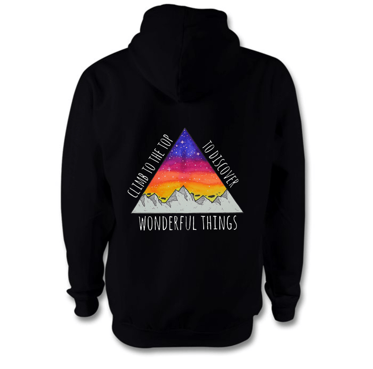 Climb To The Top Hoodie Hoodie Grow Through Clothing Black Back Extra Small Unisex