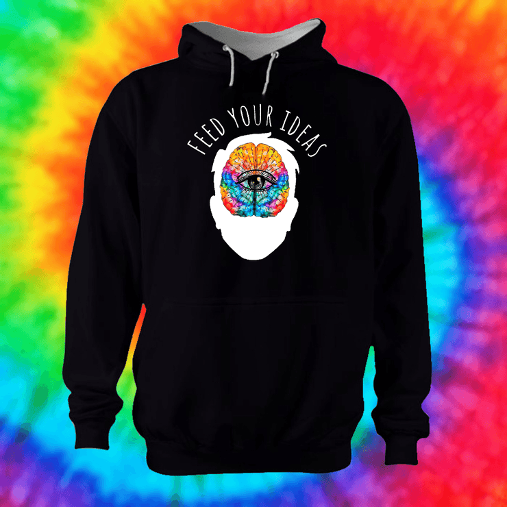 Feed Your Ideas Hoodie Hoodie Grow Through Clothing Black Front Extra Small Unisex