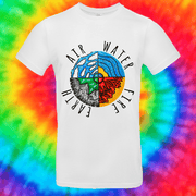 Four Elements Tee T-shirt Grow Through Clothing White Front Small Unisex