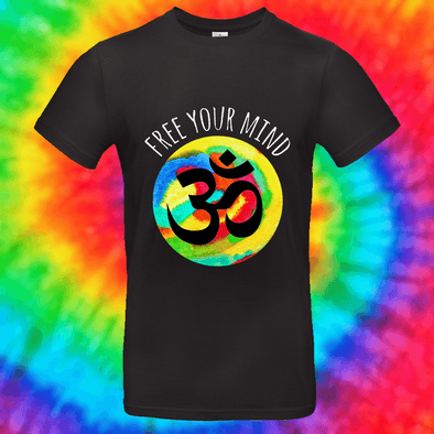 Free Your Mind Tee T-shirt Grow Through Clothing Black Front Small Unisex