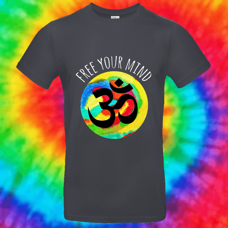 Free Your Mind Tee T-shirt Grow Through Clothing Grey Front Small Unisex