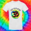 Free Your Mind Tee T-shirt Grow Through Clothing White Front Small Unisex