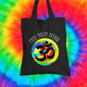 Free Your Mind Tote Bag Tote bag Grow Through Clothing Black