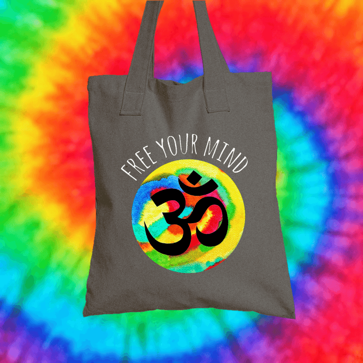 Free Your Mind Tote Bag Tote bag Grow Through Clothing Grey
