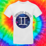 Gemini Zodiac Tee T-shirt Grow Through Clothing White Front Small Unisex