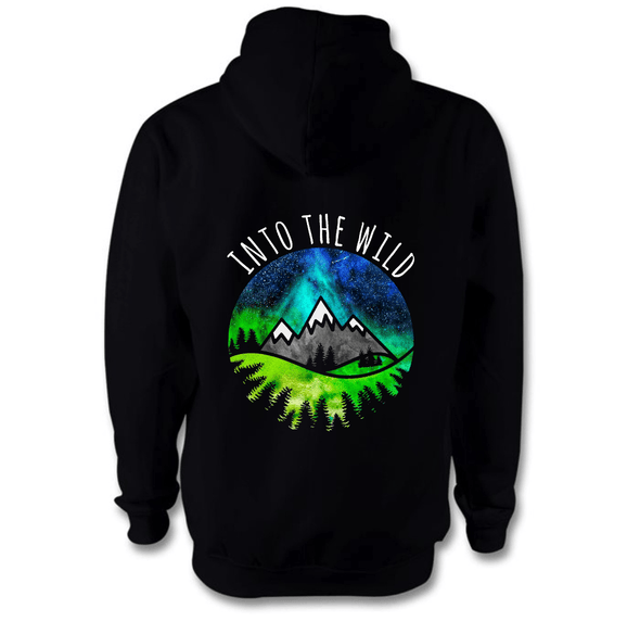 Into The Wild Hoodie Hoodie Grow Through Clothing Black Back Extra Small Unisex
