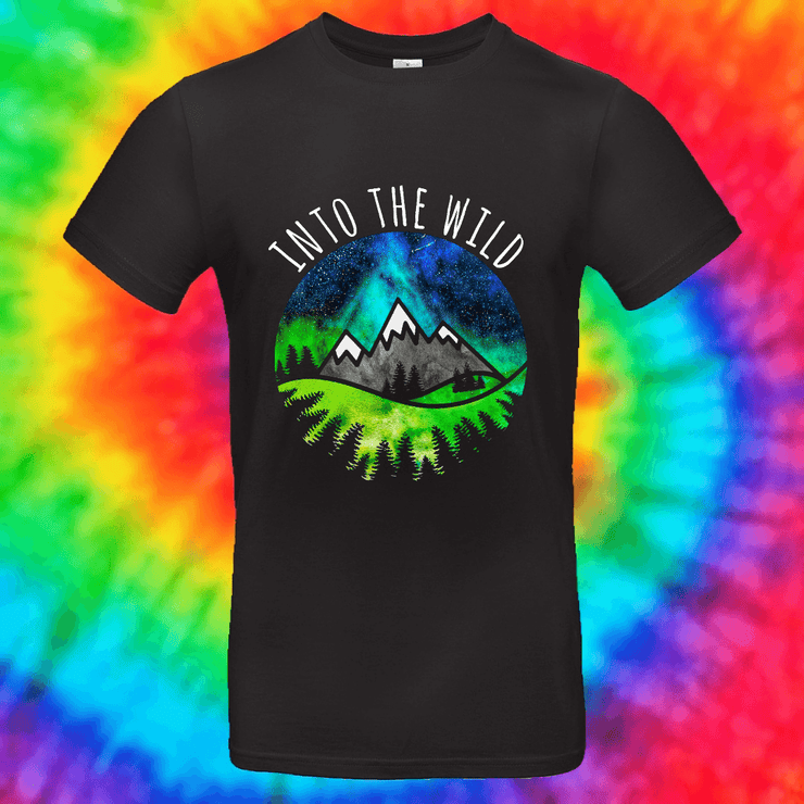 Into The Wild Tee T-shirt Grow Through Clothing Black Front Small Unisex