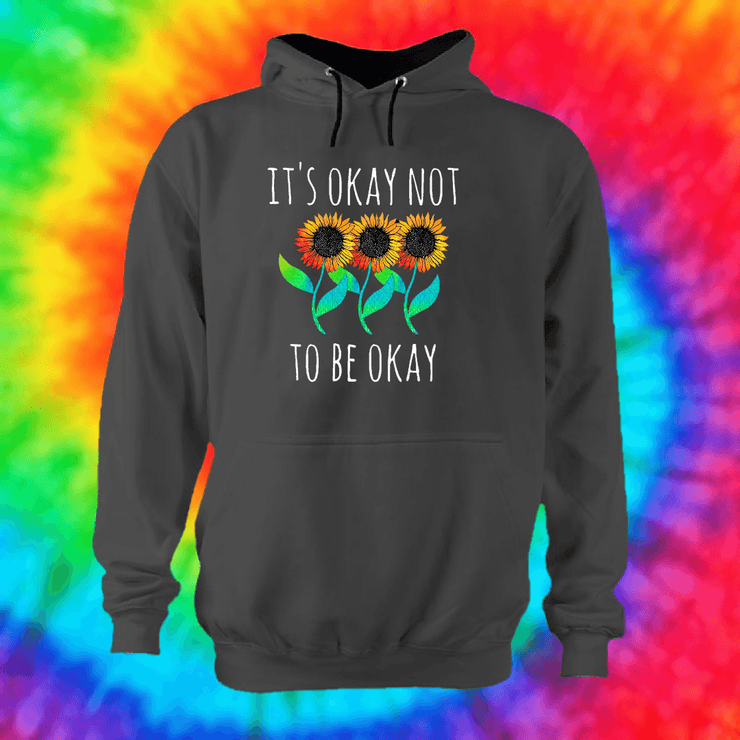 It's Okay Not To Be Okay Hoodie Hoodie Grow Through Clothing Grey Front Extra Small Unisex