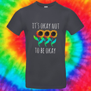 It's Okay Not To Be Okay Tee T-shirt Grow Through Clothing Grey Front Small Unisex