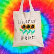 It's Okay Not To Be Okay Tote Bag Tote bag Grow Through Clothing Beige