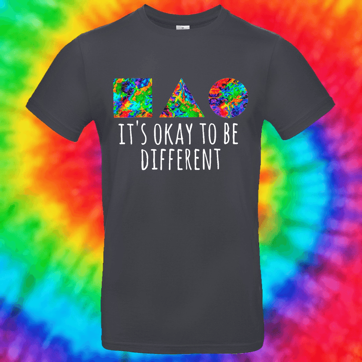 It's Okay To Be Different Tee T-shirt Grow Through Clothing Grey Front Small Unisex