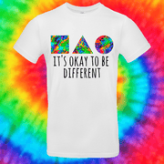 It's Okay To Be Different Tee T-shirt Grow Through Clothing White Front Small Unisex