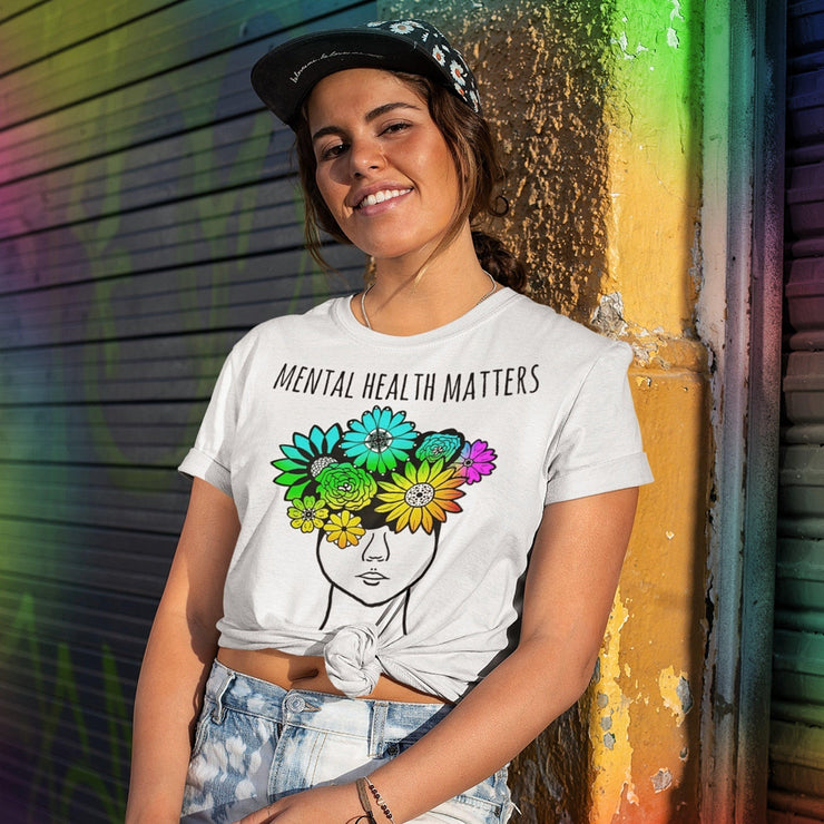 Mental Health Matters Tee T-shirt Grow Through Clothing