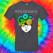 Mental Health Matters Tee T-shirt Grow Through Clothing Grey Front Small Unisex
