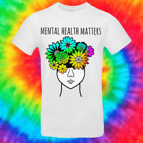 Mental Health Matters Tee T-shirt Grow Through Clothing White Front Small Unisex