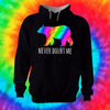 Never Doubt Me Hoodie Hoodie Grow Through Clothing Black Front Extra Small Unisex