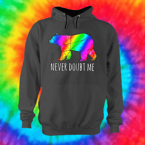 Never Doubt Me Hoodie Hoodie Grow Through Clothing Grey Front Extra Small Unisex