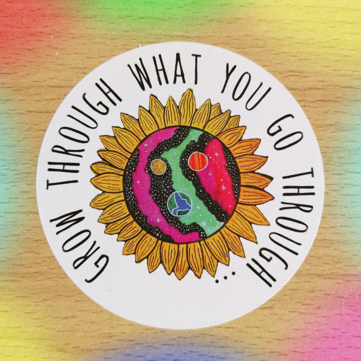 Original Hand-Painted Stickers Sticker Grow Through Clothing Grow Through What You Go Through Single Sticker