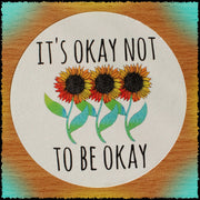 Original Hand-Painted Stickers Sticker Grow Through Clothing It's Okay Not To Be Okay Single Sticker