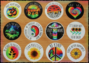 Original Hand-Painted Stickers Sticker Grow Through Clothing One Of Each Sticker 12 Sticker Deal