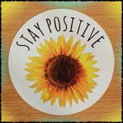 Original Hand-Painted Stickers Sticker Grow Through Clothing Stay Positive Single Sticker
