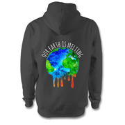 Our Earth Is Melting Hoodie Hoodie Grow Through Clothing Grey Back Extra Small Unisex