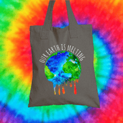 Our Earth Is Melting Tote Bag Tote bag Grow Through Clothing Grey