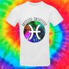Pisces Zodiac Tee T-shirt Grow Through Clothing White Front Small Unisex