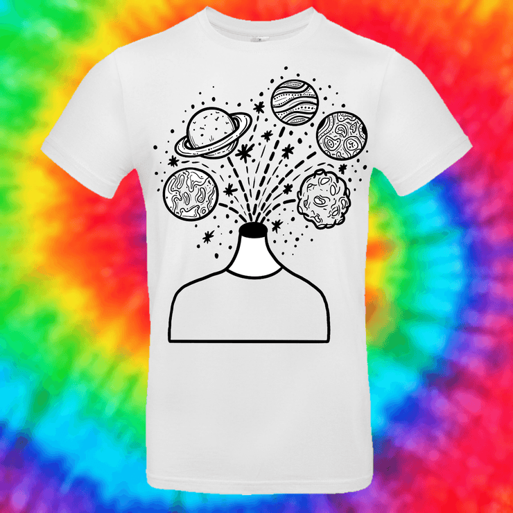 Planet Head Tee T-shirt Grow Through Clothing White Front Small Unisex