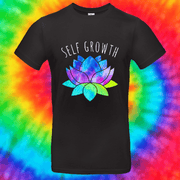 Self Growth Tee T-shirt Grow Through Clothing Black Front Small Unisex