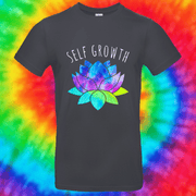 Self Growth Tee T-shirt Grow Through Clothing Grey Front Small Unisex