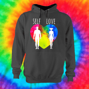 Self Love Hoodie Hoodie Grow Through Clothing Grey Front Extra Small Unisex