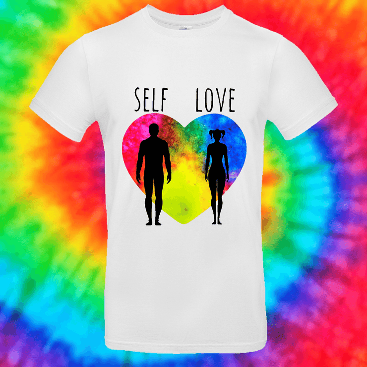 Self Love Tee T-shirt Grow Through Clothing White Front Small Unisex